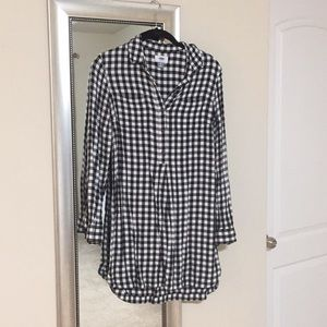Black and white checkered flannel tunic!